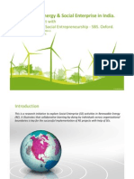 Renewable Energy and Social Enterprise in India- Reasearch