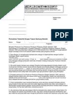 Contoh Surat Pertuduhan Bagi Tujuan Gantung Sekolah