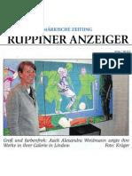 Offene Ateliers, Bericht Märkische Zeitung 07. 05. 2012