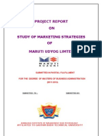 20068971 Maruti Udyog Limted Study of Marketing Strategies Mkt