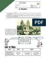 GUÍA DE ESTUDIO IVº - Nº 01 - INICIOS DE LA REPÚBLICA EN EL PERÚ