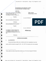 The Research Foundation of State University of New York v. Mylan Pharmaceuticals Inc., C.A. No. 09-184-LPS, at 3 (D. Del. May 18, 2012).