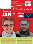 Journal du Front de Gauche 6eme cir avec Colette Jan