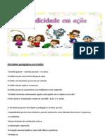 Atividades pedagógicas para bebês