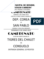 Rol Jornada 5 Torneo Relampago