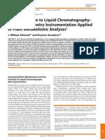 An Introduction to Liquid Chromatography Plants Metabolomics