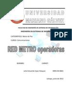RED METRO Ope Rad Ores