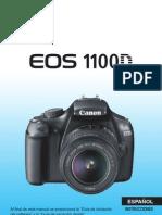 Canon eos MANUAL 1100d español
