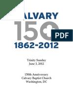 Bulletin, June 6, 2012, 150th Anniversary Sunday
