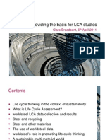 World Steel - Providing the Basis for LCA Studies 6 April 2011