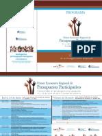 Programa Encuentro Regional PP Mendoza