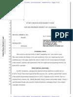 Oracle vs. Google - Order Re Copyrightablity