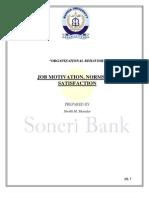 Job Satisfaction Report