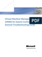 VMM for System Center 2012 General Troubleshooting Guide