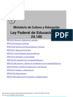 Ley Federal de Educacion