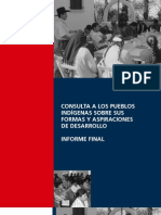 Consulta Pueblos Indigenas Formas Aspiraciones Desarrollo