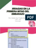 Hemorragias Primera Mitad Del Embarazo