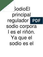 SodioEl Principal Regulador de Sodio