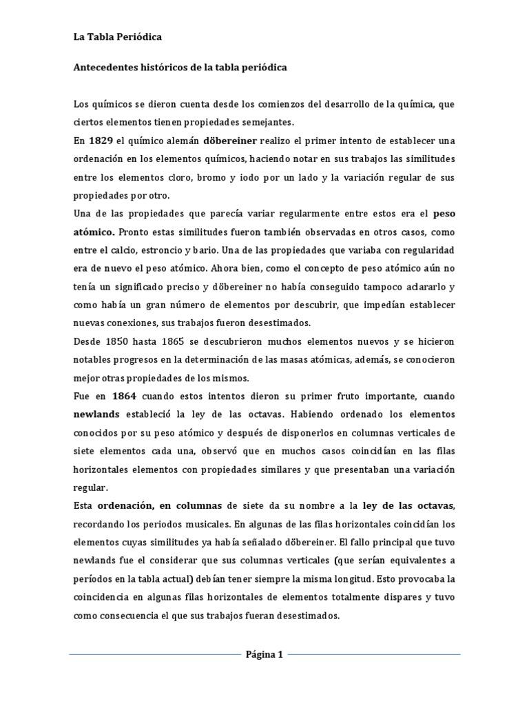 Antecedentes histricos de la tabla peridica urtaz Images