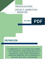 1. La Negociación. Conceptos y aspectos básicos