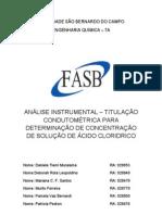 Relatorio titulação condutométrica para determinação de sol  HCl (2)