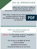 DIFICULDADES DE APRENDIZAGEM