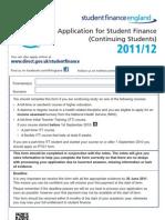 Student Finance Form