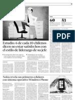 6 de Cada 10 Chilenos No Aprueba El Liderazgode Su Jefe