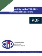 CEI CLIP - FCC Comments on 700 MHz Interoperability