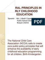 General Principles in Early Childhood Education