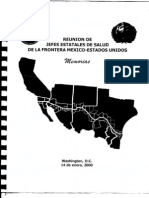 Reunion de Jefes Estatales de Salud de La Frontera Mexico Estados Unidos