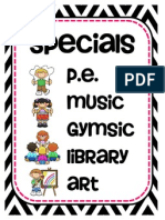 Specials Chart