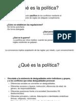 Qué es la política