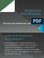 INTUBACIÓN ENDOTRAQUIAL