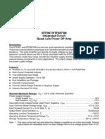 NTE987SM_IC Quad Low Power Op Amp