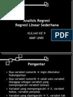 Rekresi Linear