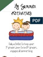 Daily Summer Activities