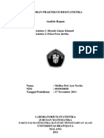 Laporan Praktikum Biostatistika Anova