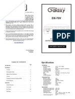 Galaxy Owners Manual DX73V