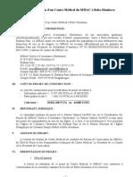 Projet SERAC-FWS - dispensaire