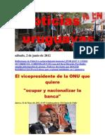 Noticias Uruguayas sábado 2 de junio del 2012