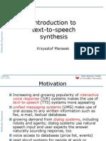 8 Speech Synthesis