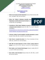 Reglementarea Serviciilor Teorii Ale Reglementarii