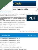 Rational Numbers List