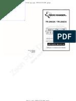 Texas Ranger TR-296-GKDX Owners Manual