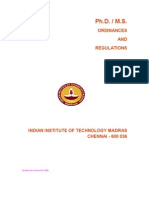MS PhD Ordinances[1]