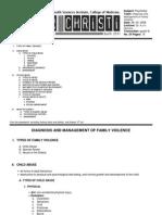 Psychiatry 3 (1) Family Violence