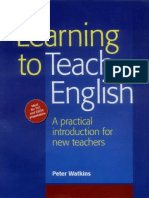 lEARNING to Teach English Watkins