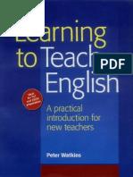 lEARNING to Teach English Watkins