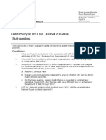 Debt Policy at UST - Study Questions